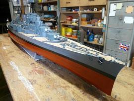 La nouvelle maquette au 1:100e de Michel : Le HMS Hood !