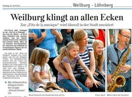 Weilburger Tageblatt Nachbericht 23 06 2012 Teil 1