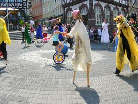 Stelzenpraxis in Wetzlar