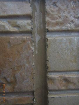 外壁柄残し塗装 クリアー塗装後補修前 熊本Y様邸