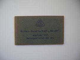 """1922 ausgegeben von der Actien-Gesellschaft """"Weser"""""""