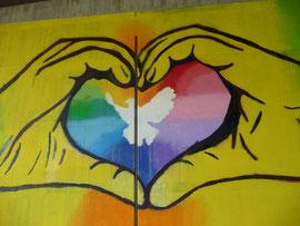 Neues Graffiti unter der Brücke in Friedland. Es ist toll geworden!