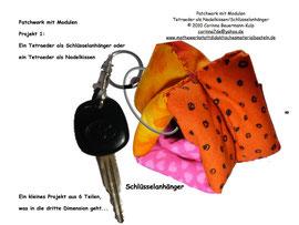 Schlüsselanhänger Tetraeder