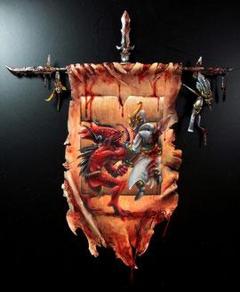 Free-Hand, bannière de Khorne, par Graphigaut