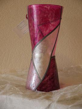 Vase Haut rose nacré - 40 cm env.
