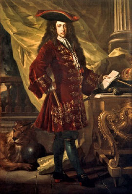 Karl III. - als Feldherr und Organisator in Spanien /  Francesco Solimena 1707