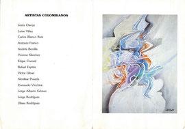 """ART EXHIBITION """"Pintura de Artistas Colombianos"""". December 1989"""