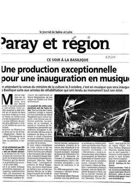 Concert à Paray le Monial en 2005