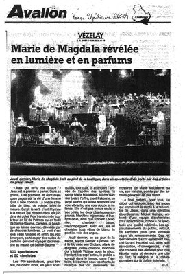 Concert Vezelay en 2004
