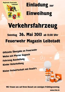 einladung zur fahrzeug einweihung 26. mai 2013 - regionale, Einladungen
