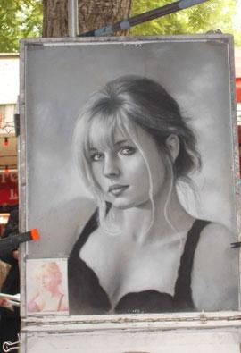 Porträt - gesehen am Place du Tertre (Montmatre)