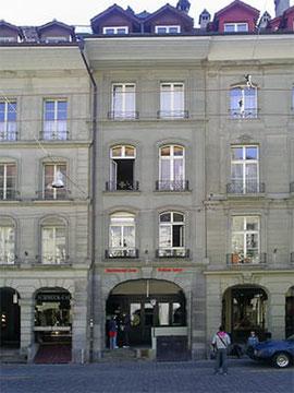 Wohnhaus von Albert Einstein von 1903 bis 1905 an der Kramgasse 49 in Bern.