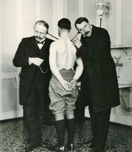 Dr. L. Spengler und Dr. Neumann, Schatzalp Quelle: B. Miller