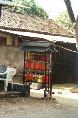 Tankstelle auf Lombok