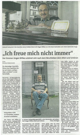 Artikel aus dem Weser Report vom 12.05.2013 / Verfasser Dr. H. Hirsinger