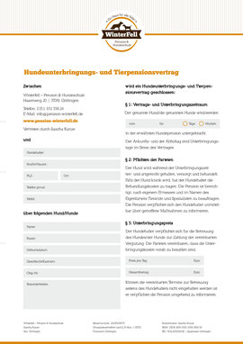 Tierpensionsvertrag (PDF)
