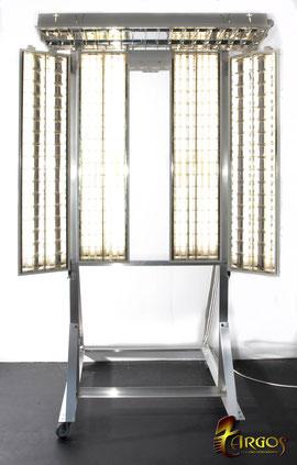 Panel con fluorescentes que proporciona una luz muy suave y uniforme