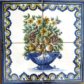 """""""Früchte-und Blumenvase"""" Art.-Nr.:PN-130, Größe: 28x28cm"""