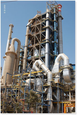 MAROCCO - Preheater tower metal, 100 m high ( frame, flue, hardware support)
