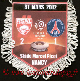 Fanion  Nancy-PSG  2011-12