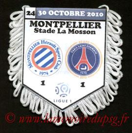 Fanion  Montpellier-PSG  2010-11
