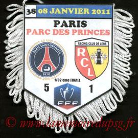 Fanion  PSG-Lens  2010-11