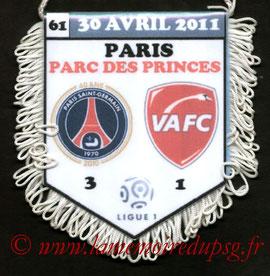 Fanion  PSG-Valenciennes  2010-11
