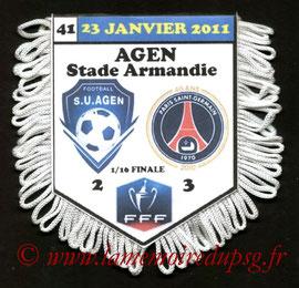 Fanion  Agen-PSG  2010-11