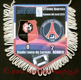 Fanion  Rennes-PSG  2012-13