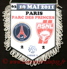 Fanion  PSG-Nancy  2010-11