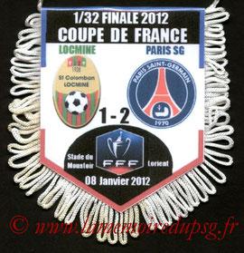 Fanion  Locminé-PSG  2011-12