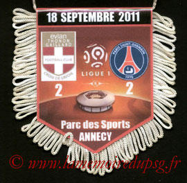 Fanion  Evian TG-PSG  2011-12