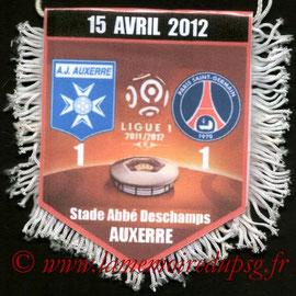 Fanion  Auxerre-PSG  2011-12