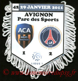 Fanion  Arles Avignon-PSG  2010-11