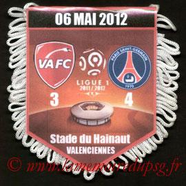 Fanion  Valenciennes-PSG  2011-12