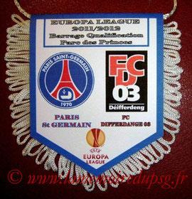 Fanion  PSG-Differdange  2011-12
