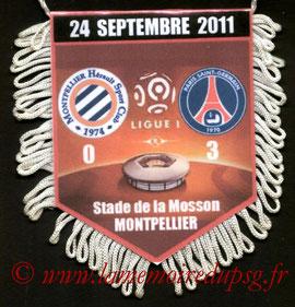 Fanion  Montpellier-PSG  2011-12