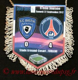 Fanion  Bastia-PSG  2012-13