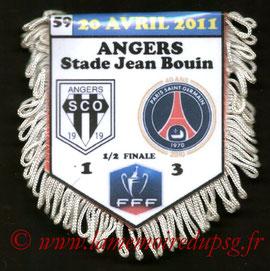 Fanion  Angers-PSG  2010-11