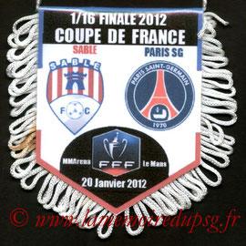 Fanion  Sablé Sur Sarthe-PSG  2011-12