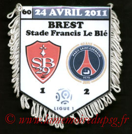 Fanion  Brest-PSG  2010-11