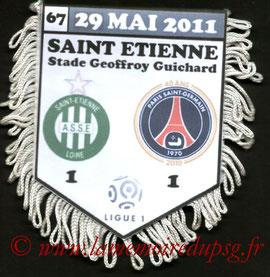 Fanion  Saint Etienne-PSG  2010-11