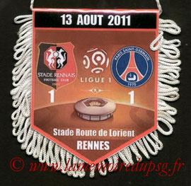 Fanion  Rennes-PSG  2011-12
