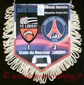 Fanion  Lorient-PSG  2012-13