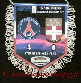 Fanion  PSG-Evian TG  2012-13