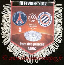 Fanion  PSG-Montpellier  2011-12