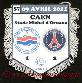 Fanion  Caen-PSG  2010-11