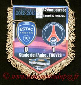 Fanion  Troyes-PSG  2012-13