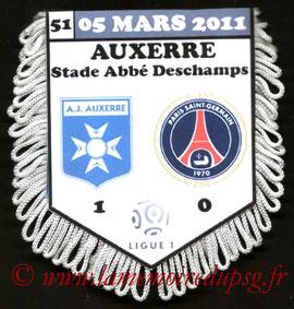 Fanion  Auxerre-PSG  2010-11