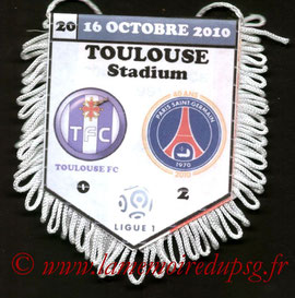 Fanion  Toulouse-PSG  2010-11